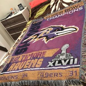 Other - Ravens NFL Superbowl Champions blanket